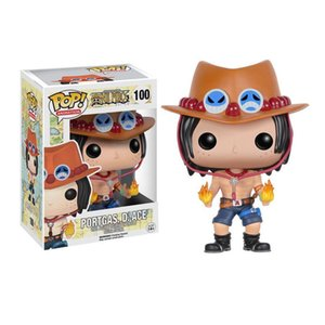 Funko POP Anime: One Piece PORTGAS D.ACE Vinyl Action Figure with Box # 100 لعبة شعبية Gify