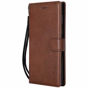 Etui portefeuille pour Sony Xperia E6 Flip Cover Couleur Pure en Cuir PU Mobile Téléphone Sacs Coque Fundas Pour Sony Xperia L1