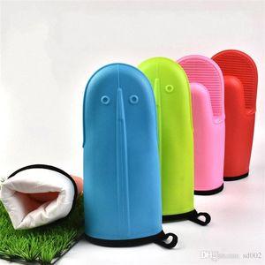 Aşınmaya Dayanıklı Silika jel Mitt Isı Dayanıklı Su Geçirmez Kalınlaşma Mikrodalga Fırın Eldiven Pişirme Eldiven Çok Renkli 4 5cl dd