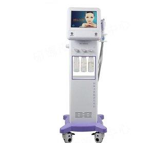 Nuevo estilo coreano 5 en 1 Enfriamiento RF Microcorriente Facial Masaje ultrasónico Microdermabrasión hidrafacial Máquina de peeling facial con tratamiento de agua hidro aguada zzh