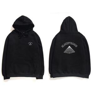 Rapper Swag T-Shirt BLACK PYRAMID Hoodies Männer Chris Brown Street Hoodie Leer Drucken Coon Langarm