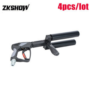Sales LED CO2 DJ Gun Pistol Machine Gas Hose Night Club Disco Show Concert Professional Stage Light Equipment 230V Free Shipping