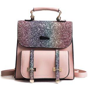 New Women Backpacks PU Leather  Designer  Female Shoulder Bag Small Backpack For Student High Quality Lady Travel Bag