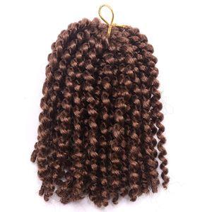 Beautful Ombre 8 '' Marlybob Crochet Tresses 3pcs Kinky Curly Twist Synthétique Cheveux Crochet Tressage Extensions de Cheveux