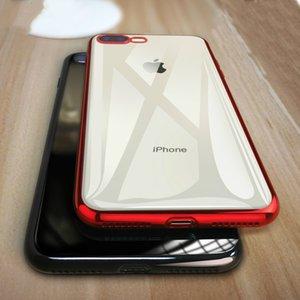 Capa de telefone para o iPhone 8 7 tampa da caixa de 6 Plus 6s silicone suave Coque Luxo TPU completa para iPhone X XR XS MAX de Samsung