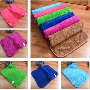 DHL Cleaning Towel Double Coral Wash Towel Velvet Polishing Drying Cloths Floor Rag Absorbent Rags 30*40cm HH7-1824