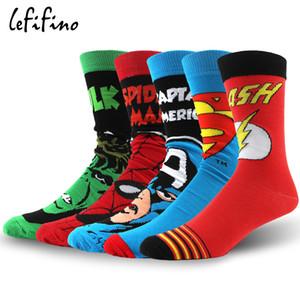 Männer Anime Baumwolle Socken Mode Lässig Lange Cartoon Skateboard Socken Glücklich Flash Human Hero Serie Jacquard Socke