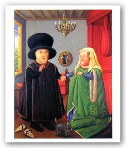 Arnolfini Fernando Botero 캔버스, 홈 장식 벽 예술 멀티 크기 fr08에 고품질의 Handpainted 인쇄 아트 유화