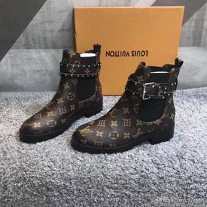 Оптовая роскошные фирменные полный кожаные женские сапоги дизайнерский стиль высокое качество мода женские короткие сапоги Женская обувь размер 35-40