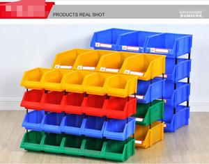 Pieza de plástico clasificar caja de almacenamiento en almacén de comercio electrónico garaje clasificar caja de almacenamiento almacén Caja de limpieza X1-X6