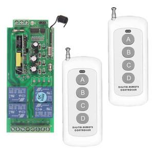0-500 متر ac 85 فولت -265 فولت 110 فولت 220 فولت 230 فولت 4 قناة 4ch الترددات اللاسلكية التحكم عن نظام التبديل استقبال + 2 قطع الارسال ، 315 433