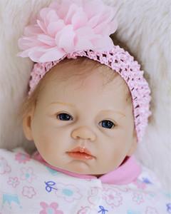 "Bebe reborn silicone dolls toys for children gift 22""55cm fake baby real girl dolls alive bonecas reborn juguetes"
