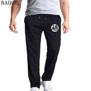 BAIJOE Hombres Joggers 2018 Hombres de la marca Pantalones Dragonball imprimir Pantalones Casual Pantalones de Chándal Negro Hombre Culturismo Pantalones XXXL