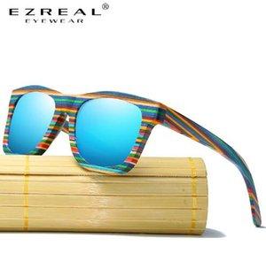 Lunettes de soleil en bois Ezreal Hommes polarisants Bambou Lunettes de soleil femmes d'origine bois Lunettes Oculos de sol masculino