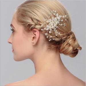 Handgemachte Braut Hochzeit Zubehör Haar Kamm Schmuck Romantische Haarnadel Tiara Silber Farbe Braut Hochzeit Dekoration