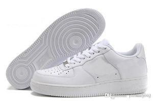 2017 top quality NUOVI uomini fashion high top bianco Casual shoes nero Leather love unisex one 1 spedizione gratuita euro 36-45 froce forces 1 one