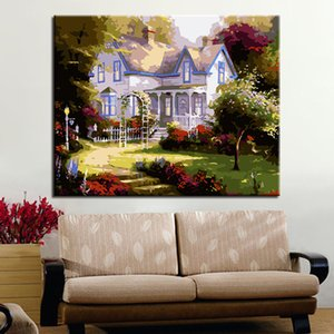 DIY Painting By Numbers House Garden Picture By Numbers Modern Wall Art Decors Paint By Numbers Handpainted Diy Gift