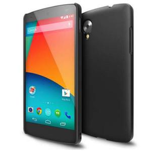 Luxo matte phone case para nexus 5 de borracha rígido pc case para lg google nexus 5 d820 d821 celular tampa traseira capa