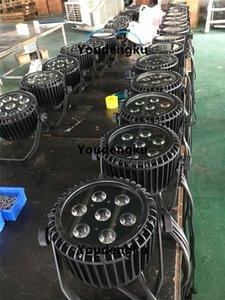 10 조각 7x12w dmx led par wash rgbw 4 in 1 슬림 파 플랫 빛 야외 파 led ip65