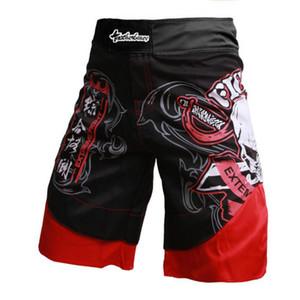 Calças de boxe dos homens impressão MMA Shorts Luta Grappling Curto Poliéster Pontapé Gel Boxe Muay Thai Calças calções de boxe thai mma