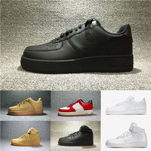 2018 Hotsale Newest NIKE AIR FORCE 1 07 lv8 UTILITY LOW Cushion black Casual Shoes para mujer hombre zapatillas de deporte de moda de malla transpirable casual shoes