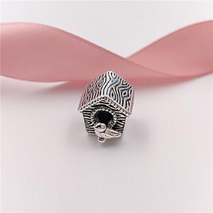 Auténticos 925 encantos de plata de ley perlas Primavera casa del pájaro se adapta al estilo europeo joyería de Pandora collar de las pulseras 797045