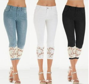 Women Stretch High Waist Skinny Embroidery Jeans Without Ripped Woman Floral Holes Denim Pants Trousers Women Jeans Pencil Pants
