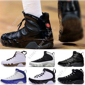 Дешевые NEW 9 Антрацит черный Медная статуя Baron Charcoal Джонни Kilroy синий Мужская баскетбольная обувь 9S IX Sneaker WOMENS Размер обуви США 7-13