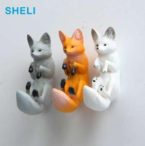 Моделирование Фокс холодильник магниты большая голова собака мультфильм животных доска стикер холодильник магниты детские игрушки подарки украшения дома