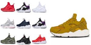 Niños Big Boy El más nuevo Huarache 4 IV Zapatillas para hombre Mujer, Negro Blanco Gris Zapatillas de deporte de alta calidad Triple Huaraches Zapatos deportivos