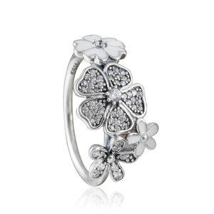 Совместимость с Pandora ювелирные изделия кольцо серебряный мерцающий букет ясно CZ кольца 100% стерлингового серебра 925 ювелирные изделия Оптовая DIY для женщин