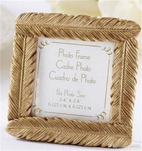 Golden Feather Photo Frame Seat Clip Suministros de boda Ceremonia de originalidad Regalo Marcos de cuadros Exquisito Fácil de llevar 3 8zj cc