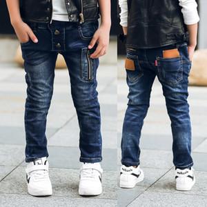 GB-Kcool erkek kot Yeni Bahar Sonbahar 2017 Çocuk Denim Pantolon Rahat Düzenli Tek Çocuklar için Kot Bebek Erkek Pantolon 2-14 y