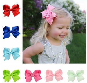 4 Inch Moda Infantil do laço de fita grampo clipes meninas Grande bowknot Headwear Crianças Cabelo Boutique Arcos bebê cabelo Acessórios S