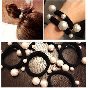 2018 fashion pearl Hair rope hair ties pretty hair accessories