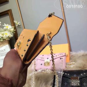 2017 Kore ÜST moda eyer çantası, Metal zincir tek omuz çantası