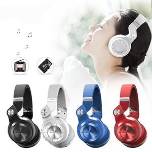 Bluedio T2 + foldable 블루투스 헤드폰 블루투스 4.1 음악 무선 헤드셋에 대한 FM 라디오 SD 카드 기능을 지원