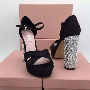 2019 With high 12.5cm high quality Ladies Diamond Diamond sandals brand designer fashion personality high heel shoes size