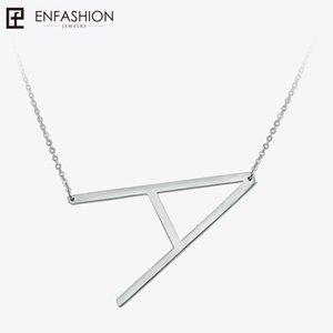 Enfashion Brief Halsketten Anhänger Alfabet Initial Halskette Edelstahl Choker Halskette Frauen Schmuck Kolye Collier Kragen