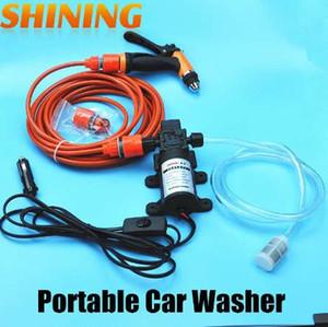 12V Power Car Électrique 60W Haute Pression Pompe De Voiture Rondelle Portable Car Wash Pump Machine À Laver Jardin Pompe Lavador de coches