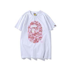 New Summer Lover Pink Green Blue Camo Cartoon Stampa T-shirt bianche Adolescente Casual girocollo Hip Hop T-shirt
