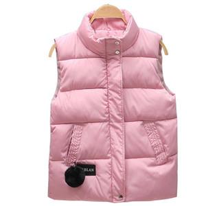 2020 donne autunno inverno gilet giacca donne cappotto corto collo alla coreana maniche panciotto femminile plus size chalecos para mujer