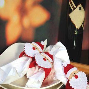 4 6 Pcs Christmas Santa Claus Napkin Rings Serviette Holder Table Serviette Xmas 2018 for party #2n2