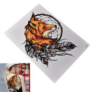 Fox Dreamcatcher Temporäre Tattoo Große Arm Körper Wasserdichte Tattoos Aufkleber