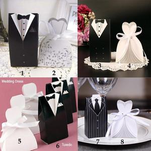 결혼식 사탕 상자 신부와 신랑 사탕 상자 창조적 인 사탕 호의 가방 이벤트 선물 파티 가방 50 쌍 / 100pcs