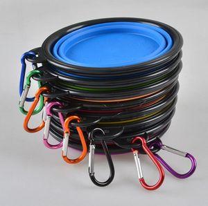 Collapsible Dog Bowl, 식품 등급 실리콘 BPA 무료, 접이식 팽창 식 컵 애완 동물 용 애완 동물 식품 용 수분 공급 휴대용 여행용 컵 무료 Ca