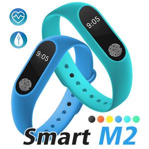 M2 Fitness Tracker Banda de reloj Monitor de ritmo cardíaco Rastreador de actividad a prueba de agua Pulsera inteligente Podómetro Recordatorio de salud con paquete