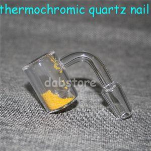 New Quartz Thermochromic Bucket Banger 14mm Male Female Color Changing Quartz Thermochromic Banger Nails For Glass Bongs Dab Rigs