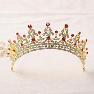 Oro Plata Dos Tonos Nupcial Headwear Crystal Pageant Nupcial Accesorios de Boda Tocado Diadema Boda Tiara Rhinestone