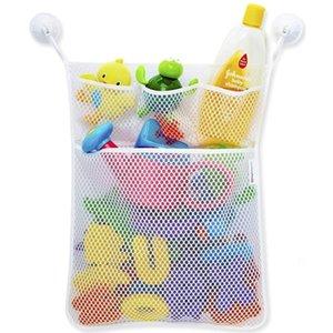 다기능 스토리지 가방 장난감 바구니를 구성 투명 한 만화 욕실 빨판 내구성 지우기 문 매달려 스토리지 메쉬 가방